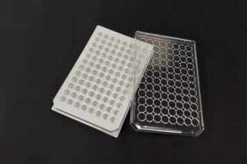 Poly-L-lysine White solid 96 well plate with lid