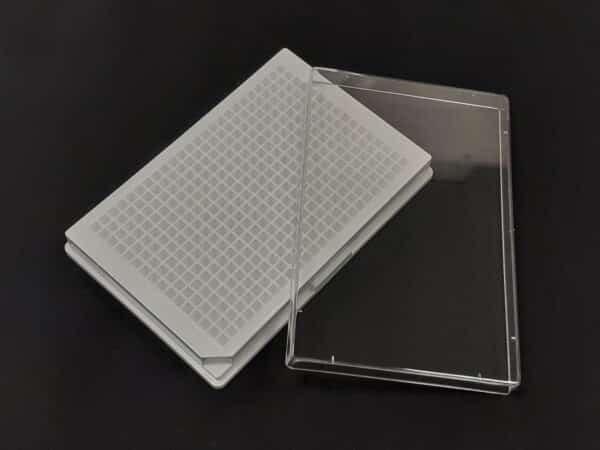 poly-L-lysine cell culture white solid 384 well plate with lid